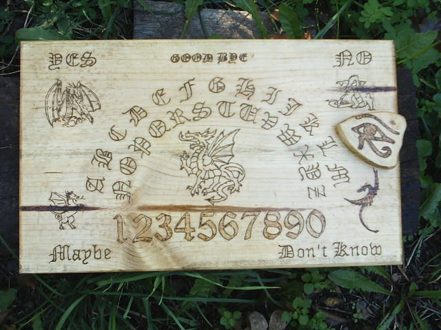 Each Ouija Board is hand made as if it was my own